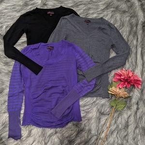 Bundle of 3 Takeout brand light sweaters